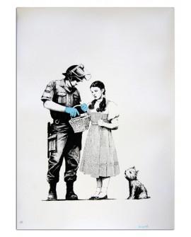 Banksy El mago de Oz Dorothy y el policia - Cuadro Graffiti Artistico