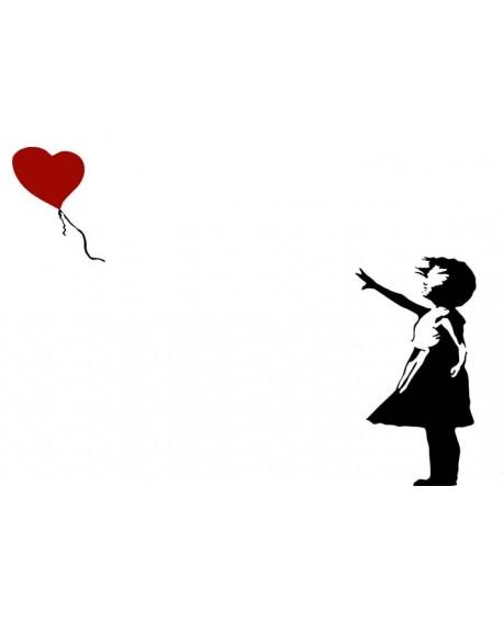 Banksy Cuadro Mural Graffiti Reproduccion Globo Adios Amor Home