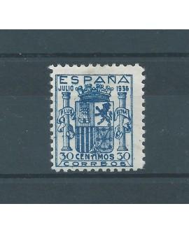 España 1936 - Escudo de España - Edifil nº 801 - Sello certificado Comex Home