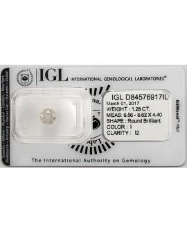 Diamante de 1,28 Quilates. Autentico y garantizado con certificado IGL