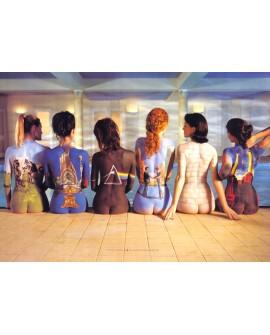 Pink Floyd Chicas Tattu Art Cuadro Cabecero Decorativo