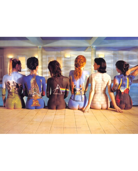 Pink Floyd Chicas Tattu Art Cuadro Cabecero Decorativo Home