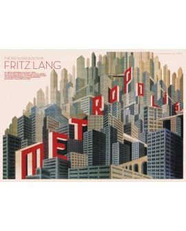 METROPOLIS Boris Bilinsky 1927 Fritz Lang cartel de cine horizontal Reproduccion Home
