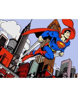 Superman Warner Cuadro Mural Oficial Manhattan tamaño grande Cuadros Horizontales