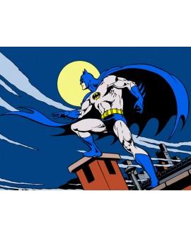 Batman Warner Cuadro Juvenil Comic Mural Oficial en tamaño grande