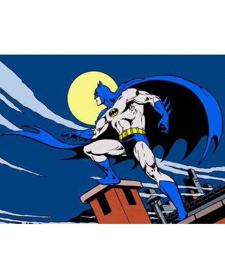Batman Warner Cuadro Juvenil Comic Mural Oficial en tamaño grande Cuadros Horizontales