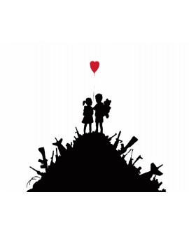 BANKSY - Kids On Guns Hill - Cuadro Graffiti Reproduccion en Giclee