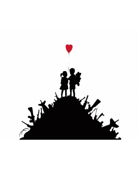 BANKSY - Kids On Guns Hill - Cuadro Graffiti Reproduccion en Giclee Home