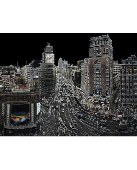 Martha Ulloa - Los Neones de Gran Via de Madrid Siglo XXI Pintura Giclee Home