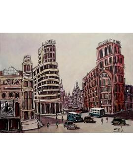 Alcala - Inaguracion plaza de Callao 1935 - Cuadro en comic