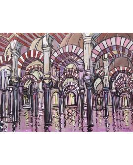 Pintor Jose Alcala Cordoba La Mezquita 2 pintura Giclee Reproduccion Home