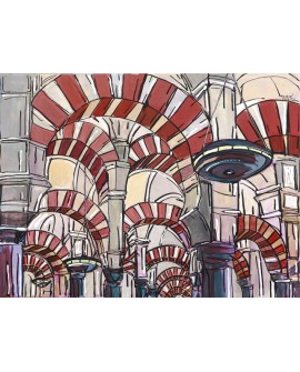 Pintor Jose Alcala Cordoba La Mezquita pintura Giclee Reproduccion Home