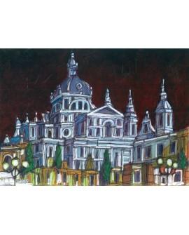 Jose Alcala Catedral de Madrid La Almudena Pintura Giclee Home