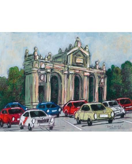Pintor Jose Alcala La Puerta de Alcala pintura Giclee Reproduccion Home