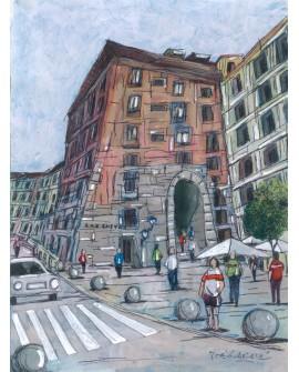 Jose Alcala El Arco de Cuchilleros madrid  Pintura Giclee
