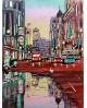 Pintor Jose Alcala Charco en la Gran Via pintura Giclee Reproduccion Home