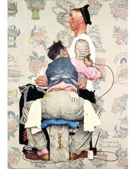 Rockwell El tatuador Arte Comic en cuadro Vintage clasico Tatuajes Home