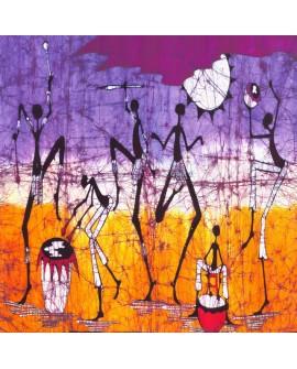 Danza africana - Cuadro mural Etnico Tribal Africano Colorista Guerreros Home