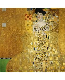 ADELE de Gustav Klimt Cuadro Mural Cuadrado Impresionista Clasico Art Nouveau Deco Home