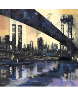 Tony Polonio New York Abstracto Cuadro mural cuadrado en Pintura Giclee Home