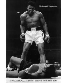 Ali & Sony Liston - en el primer round - cuadro foto historica Boxeo