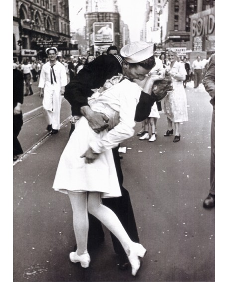 Beso de la guerra - war end kiss cuadro foto en mural vintage Home