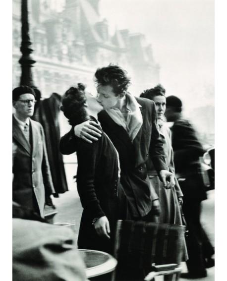 Beso de Paris de Bouregau en vertical en cuadro fotografico vintage Home