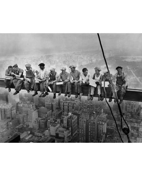 Fotografia de Obreros en la viga en NEW YORK Panoramico mural grande Home