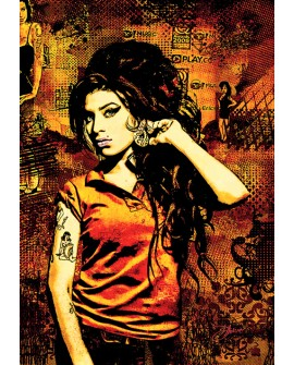 Amy Winehouse - Pop Art Cuadro Mural Tributo