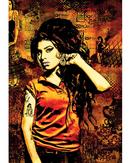 Amy Winehouse - Pop Art Cuadro Mural Tributo Home