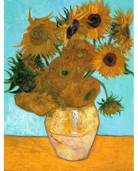 Van Gogh Jarron de girasoles Pintura Impresionista Reproduccion Home
