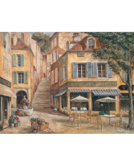 Terraza de Bar de Paris 2 cuadro mural Naif Vintage Romantico Home
