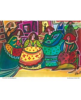 Las meninas Naif de Gea cuadro grande mural español moderno Reproduccion Home
