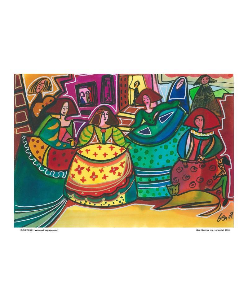 Las meninas naif de gea cuadro grande mural espa ol - Cuadros de meninas modernos ...