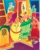 Las Meninas de Velazquez en Cuadro Naif Colorista de Gea Reproduccion Home