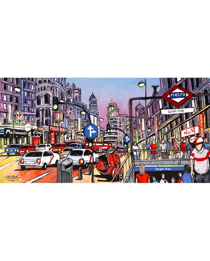 alcala cuadros originales panoramicos pintados a mano bajo encargo en lienzo home loading zoom - Cuadros Originales