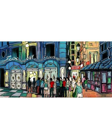 Jose Alcala - Teatro Joy Slava y Chocolateria san Gines de Madrid Cuadros Horizontales