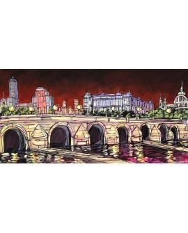 Jose Alcala Panoramica desde Puente de Segovia de Madrid Cuadros Horizontales