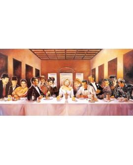 Sagrada cena de los actores - Cuadro Comic Arte Pop Marilyn Leonardo Vinci Cuadros Horizontales