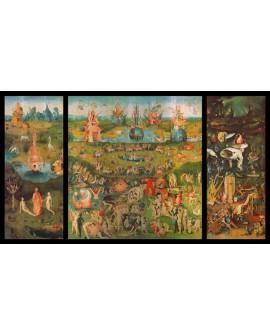 El Bosco jardin de las delicias triptico reproduccion cuadro clasico Cuadros Horizontales