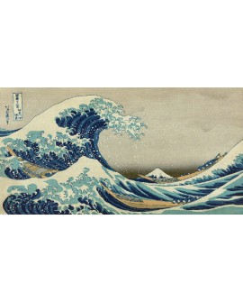 Ola Japonesa de Hokusay Arte oriental cuadro mural reproduccion Cuadros Horizontales