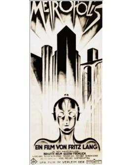 Cartel de Metropolis de Fritz Lang en Cuadro Vertical Friso Home