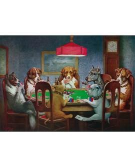 Los perros jugando al poker cuadro decorativo artr naif pop art