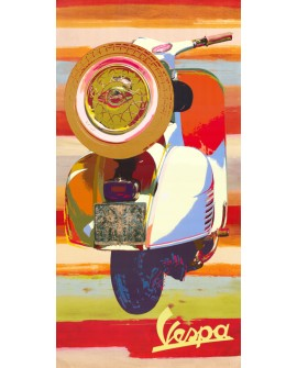 Vespa Pop Art Italiana Scooter Cuadro Decorativo Vertical Home