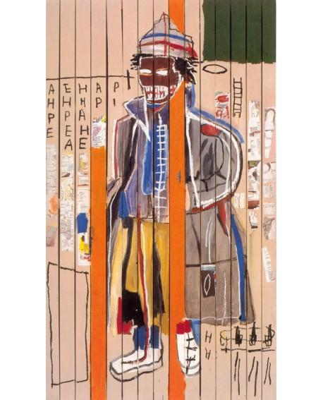 Baskiat Reproduccion en cuadro Mural de Arte graffiti Americano Home