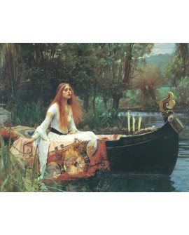 John William Waterhouse Lady of Shalott Dama del lago cuadro reproduccion