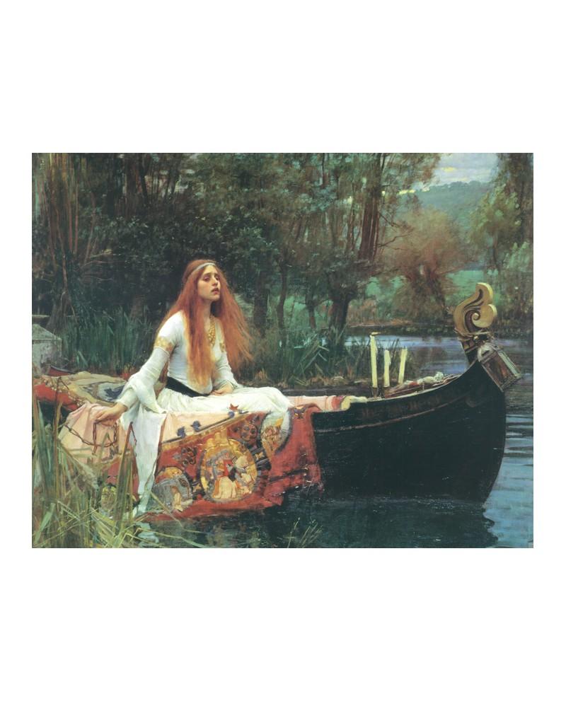 John William Waterhouse Lady of Shalott Dama del lago cuadro reprod...