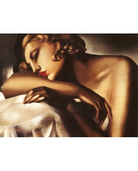 Tamara Lempicka Dormeuse cuadro desnudo reproduccion Pintura Giclee Home