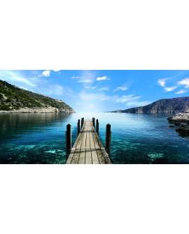 Embarcadero en playa Cuadro Fotografia Paisaje Mar Panoramico Cuadros Horizontales