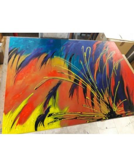 Cuadros murales abstractos por encargo pintura a mano en for Cuadros verticales grandes